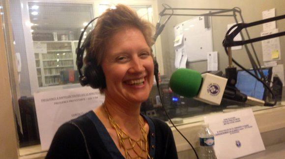 Denise Dampierre on the radio