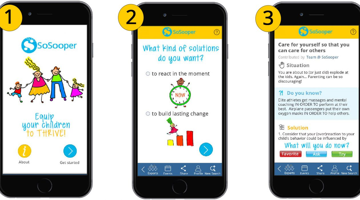 Screenshots SoSooper App