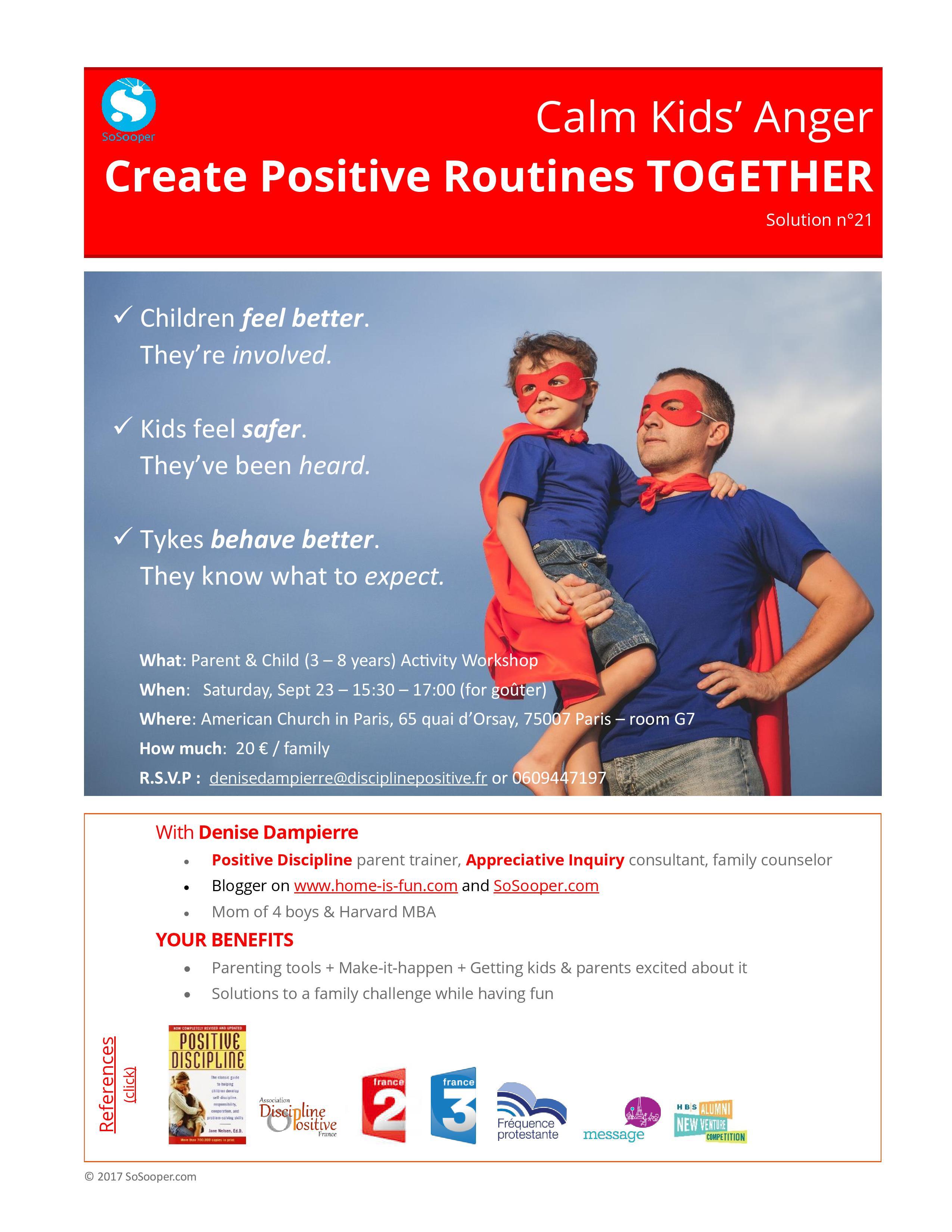 parent child workshop for anger management