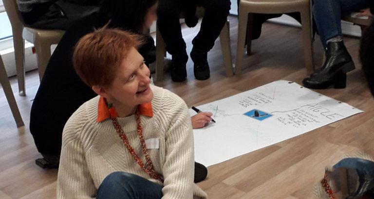 Denise Dampierre in workshop
