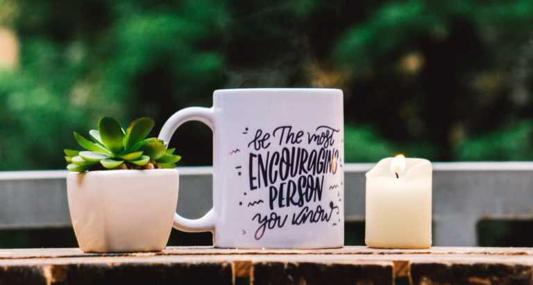 encouragement cup of coffee